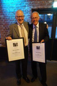 Torstein Vik og Trond Markestad ble utnevnt til æresmedlemmer i Norsk barnelegeforening på Vårmøtet i Drammen. Vel fortjent! Paidos gratulerer!