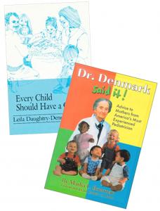 Dr Denmark var av den oppfatningen at god helse baseres på livsglede og sunn ernæring. Hun skrev to bøker med råd til foreldreder hun delte sin filosofien om barneopppdragelse.
