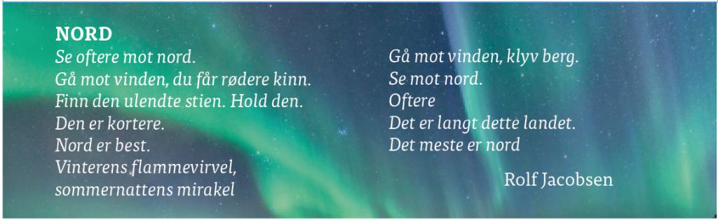 Nord av Rolf Jacobsen