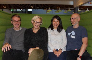 Kvalitetsutvalget – barneleger av høy kvalitet! Fra venstre: Claus Klingenberg, Unni Mette Stamnes Köpp, Anne Lee Solevåg og Kurt Østhuus Krogh.