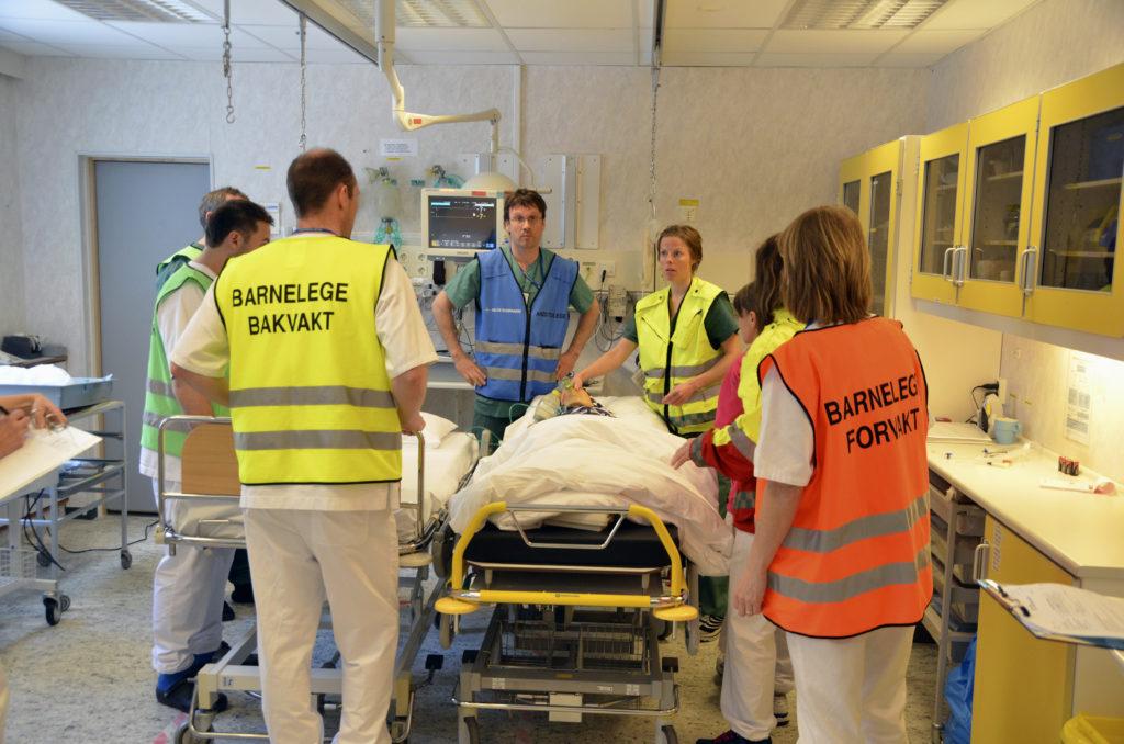 Simulering akutt barneteam i akuttmottak sammen med anestesi